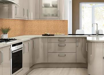 кухонный фартук из ПВХ панелей